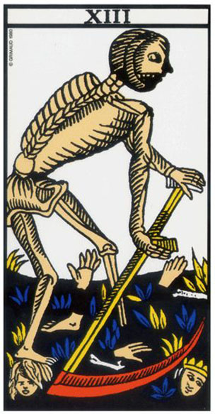 tarot carte lame 13, tarot cartes lame sans nom